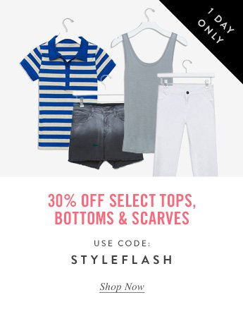 30% Off Select Tops and More
