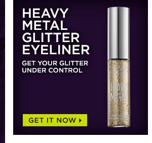 Heavy Metal Glitter Eyeliner - Get Your Glitter Under Control.  Get It Now >