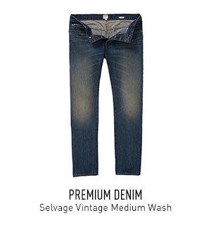Vintage Wash Selvage Denim