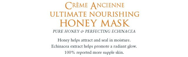 CREME ANCIENNE ULTIMATE NOURISHING HONEY MASK: Pure Honey & Perfecting Echinacea