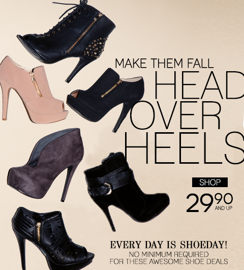Shop NEW Footwear - Heels, wedges, flats, pumps, booties and more! Plus, take $20 off any purchase of $80 or more! Limited time offer is valid online only