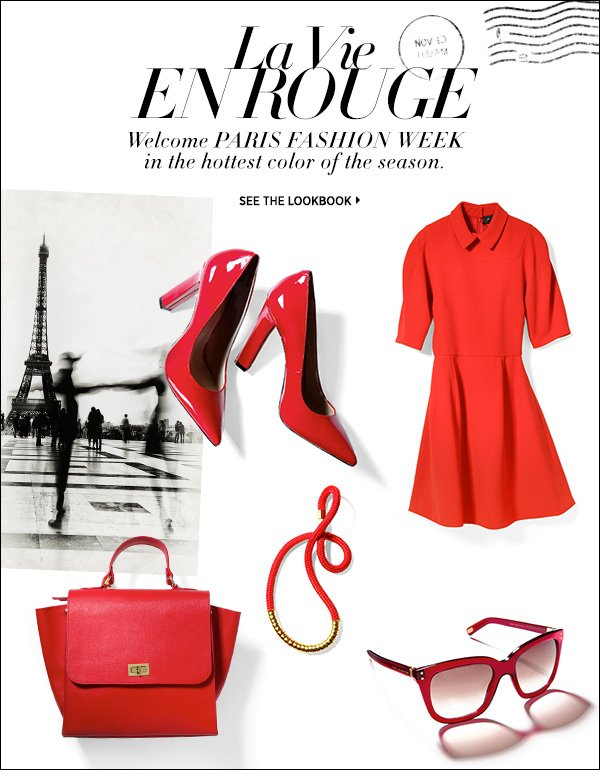 Welcome Paris Fashion Week in the hottest color of the season: Parisian Red. Shop now >>
