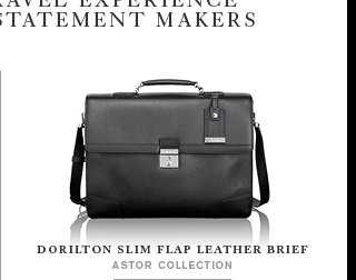 Astor Collection - Shop Dorilton Slim Flap Leather Brief