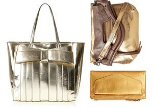 Now Trending: Metallic Handbags