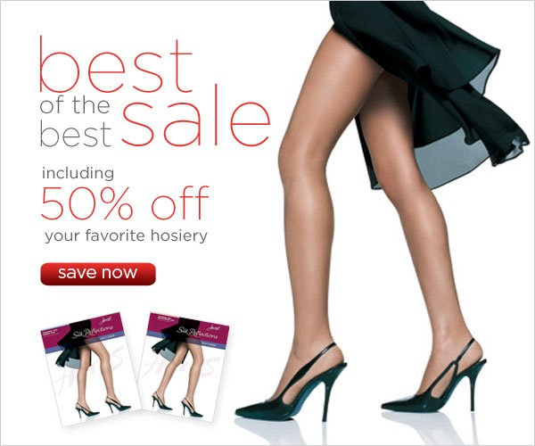50% off your favorite hosiery
