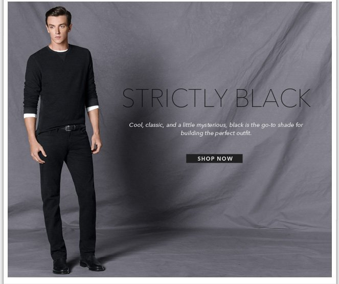 Mens Strictly Black