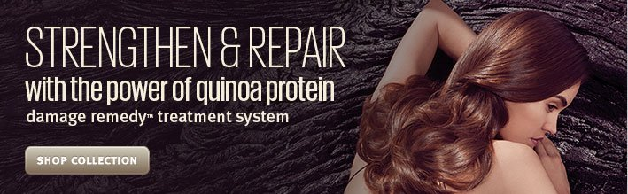 strengthen and repair with the power of quinoa protein. shop damage remedy collection.