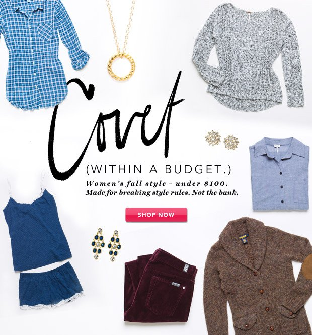 Covet. (Within a Budget.) Fall Style Under $100.