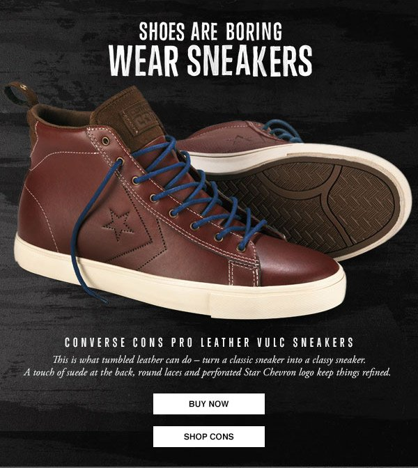 CONVERSE CONS PRO LEATHER VULC SNEAKERS