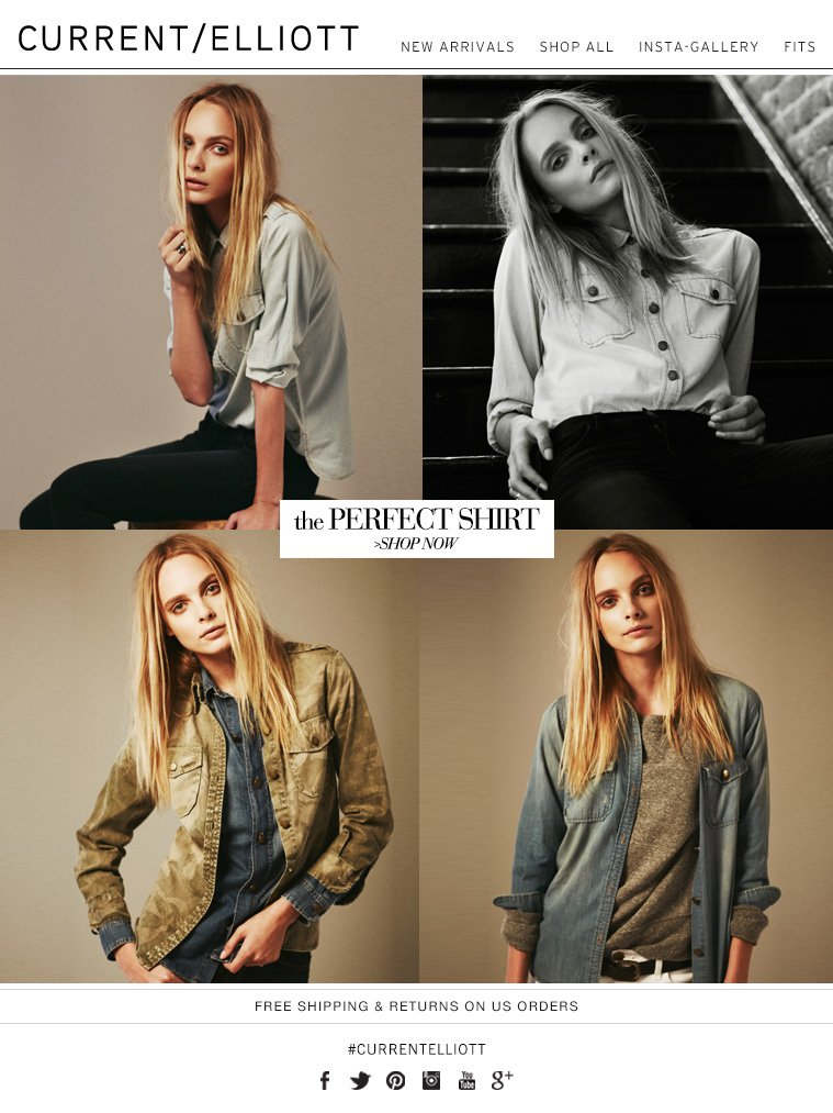 CURRENT ELLIOTT | THE PERFECT SHIRT - SHOP NOW - FREE SHIPPING AND RETURNS ON U.S. ORDERS