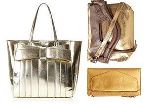 Now Trending: Metallic Handbags