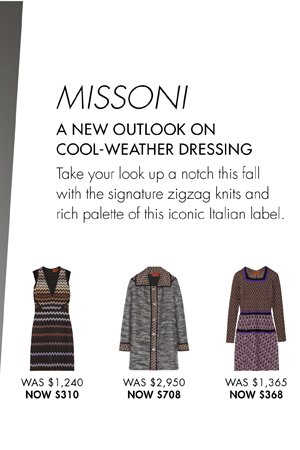 MISSONI UP TO 65% OFF