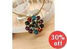 Rhinestone Hearts Pendant Necklace