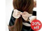 Chiffon Bow-Accent Hair Tie