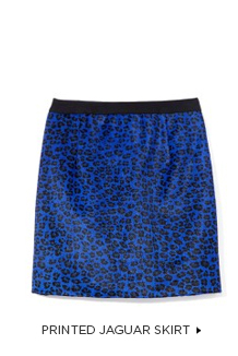 Printed Jaguar Skirt