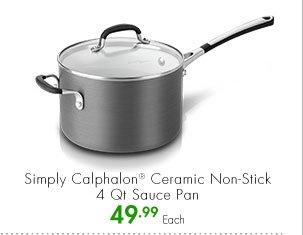Simply Calphalon® Ceramic Non-Stick 4 Qt Sauce Pan 49.99 Each