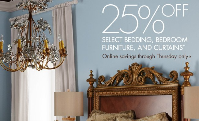 25% OFF Bedding, Furniture + more