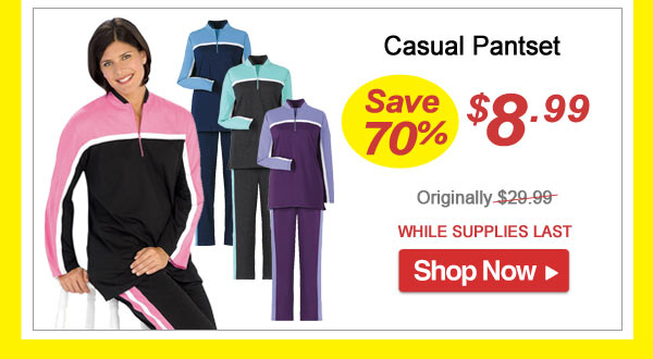 Casual Pantset - Save 70% - Now Only $8.99 Limited Time Offer