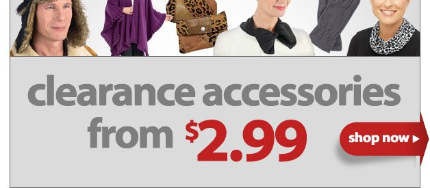 Ooh Goodies, Ooh Bargains - Clearance accessories from $2.99 - Shop Now