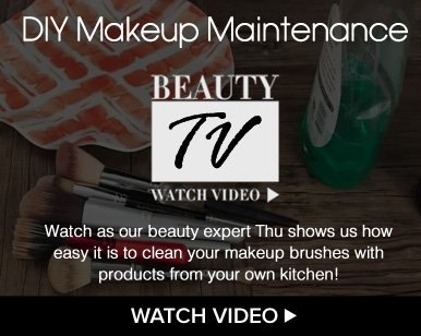 Beauty TV Daily Video  DIY Makeup Maintenance  Watch us our beauty expert Thu shows us how easy it is to clean your makeup brushes with products from your own kitchen! Watch Video>>
