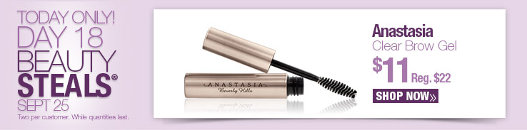 Beauty Steal - Anastasia Clear Brow Gel $11. Reg.$22. Shop Now.