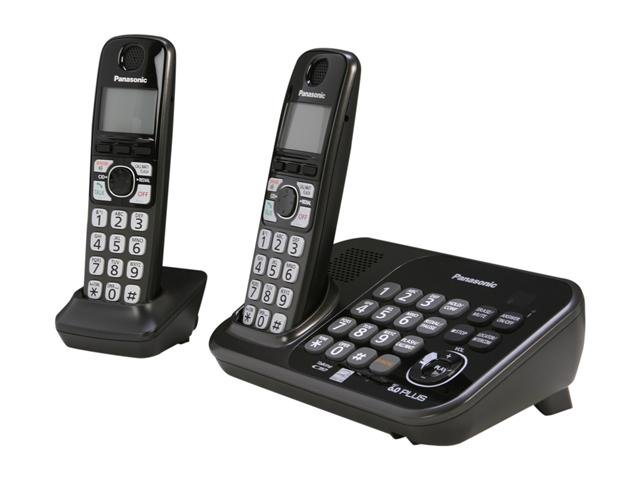 Panasonic KX-TG4742B 1.9 GHz Digital DECT 6.0 2 Handsets Cordless Phones with Answering Machine