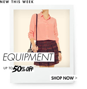EQUIPMENT - UP TO 50% OFF