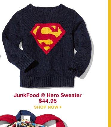 JunkFood® Hero Sweater $44.95 | SHOP NOW