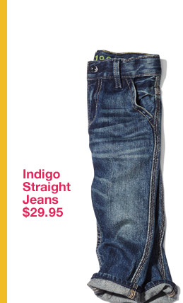 Indigo Straight Jeans $29.95