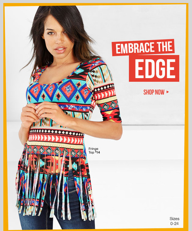 Embrace the Edge! NEW Aztec Trend! Starting at $14! SHOP NOW!