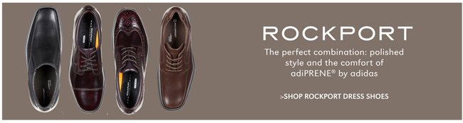 ROCKPORT | THE PERFECT COMBINATION: POLISHED STYLE AND THE COMFORT OF ADIPRENE® BY ADIDAS | SHOP ROCKPORT DRESS SHOES