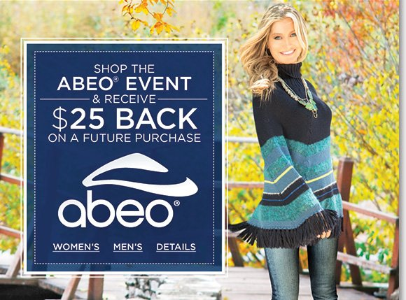 Shop the ultimate fall styles from ABEO®, including NEW arrivals from B.I.O.system, AEROsystem, SMARTsystem, and R.O.C.S., and save $25 on your next The Walking Company purchase!* Find the best selection when you shop now at The Walking Company.