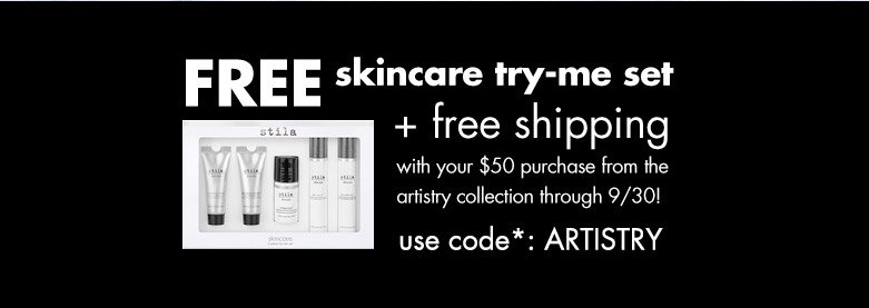 free skincare set and free shipping use code: ARTISTRY