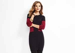 Kier & J: Colorblocked Dresses & Sweaters