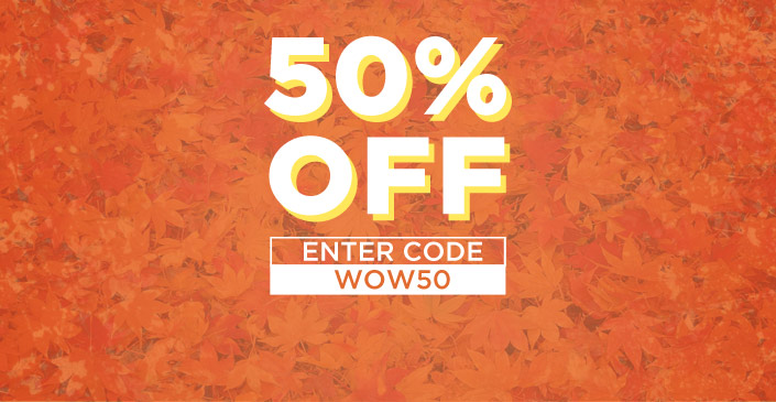 50% Off Everything Inside