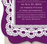 Mahogany Lace Invitation