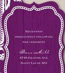 Mahogany Lace Reception Card