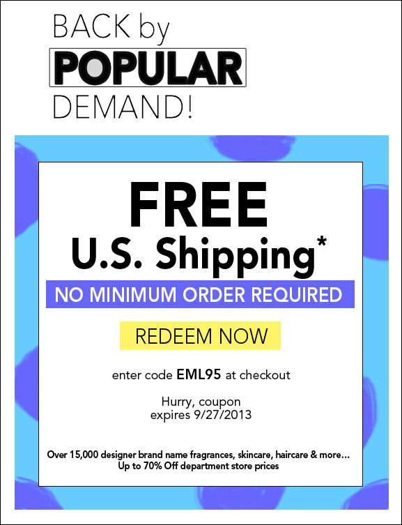 Free Shipping*, No Minimum - Beauty up to 70% Off department store prices