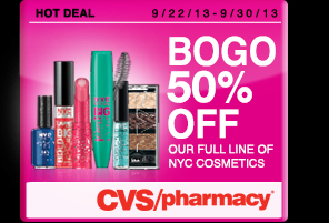 Buy 1 Get 1 50% off Offer exclusive to CVS