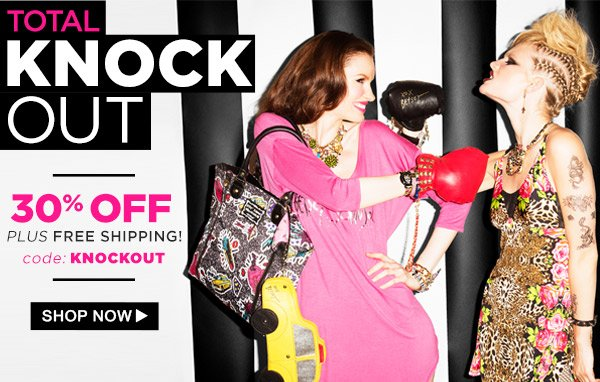 Total Knock Out! 30% Off plus FREE shipping!