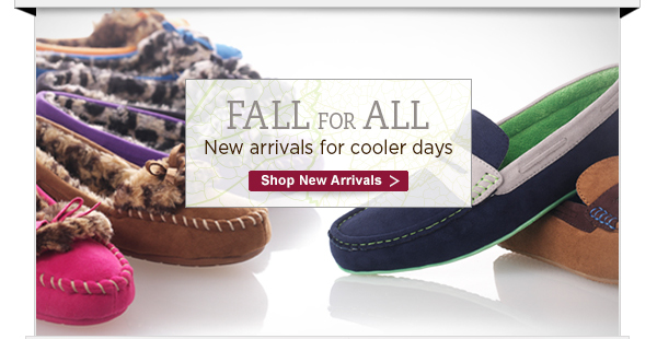 Fall for All.  Shop new arrivals