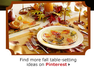 Find more fall table-setting ideas on Pinterest