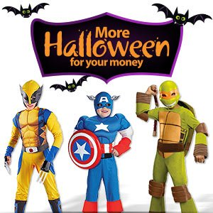Halloween costumes, decor & more