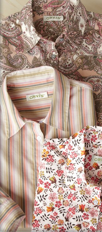 Boldly patterned, vibrantly hued, crisp and cool, our best-selling cotton button-fronts are just $59.