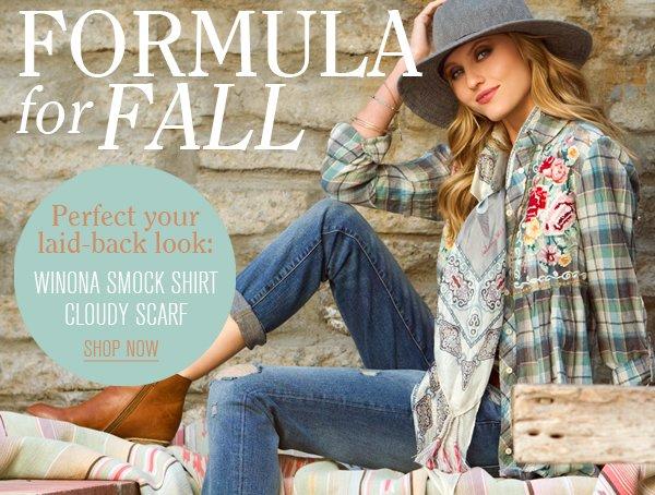 Formula For Fall!