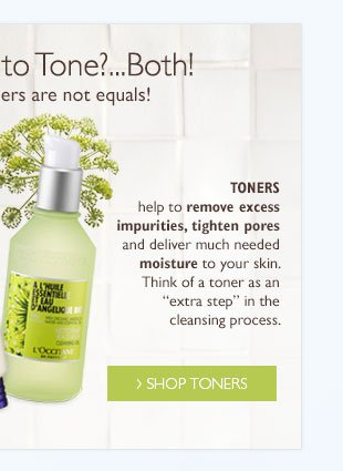 Toners help to remove excess impurities, tighten pores and deliver much needed moisture to your skin. Think of a toner as an extra step in the cleansing process.
