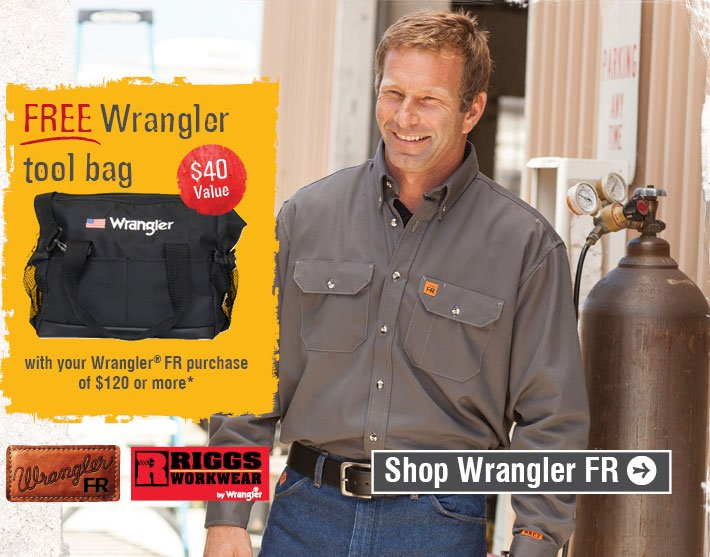 Free Wrangler Tool Bag With Purchase Of $120 Or More