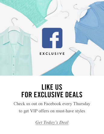Like Us For Exclusive Deals