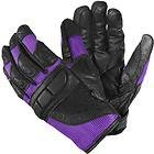 Xelement Women's Black/Purple Mesh Cool Rider Motorcycle Gloves