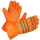 Xelement Men's Gauntlet Neon Orange Waterproof Tri-Tex Textile Gloves